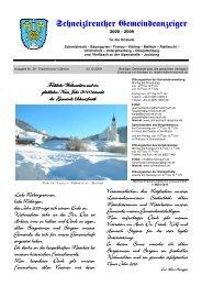 Gemeindeanzeiger 4-09 - Schneizlreuth