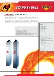 Cell KL P 1709002100 d:cell KL ... - Banner Batterien