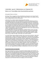 Referat von Dr. Thomas Mattig, Direktor ... - Caritas Bern