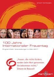 100 Jahre Internationaler Frauentag - agenda21ratingen