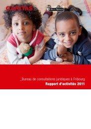 Rapport d'activites Fribourg 2011