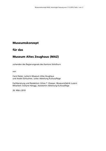 Museumskonzept MAZ - Museumsfabrik