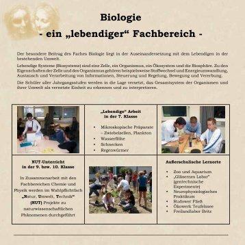 """Biologie - ein """"lebendiger"""" Fachbereich - - Leonardo da Vinci ..."""
