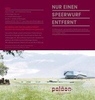 """Flyer """"Nur einen Speerwurf entfernt"""", PDF, 213 KB - paläon"""