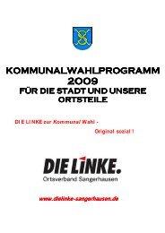 KOMMUNALWAHLPROGRAMM - DIE LINKE Sachsen-Anhalt