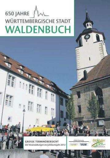 Jubiläumszeitung - 650 Jahre württembergische Stadt Waldenbuch