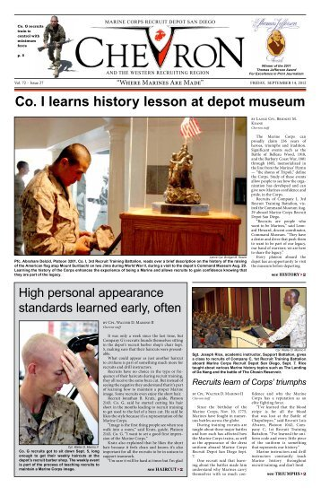 Co. I learns history lesson at depot museum - Marine Corps Recruit ...