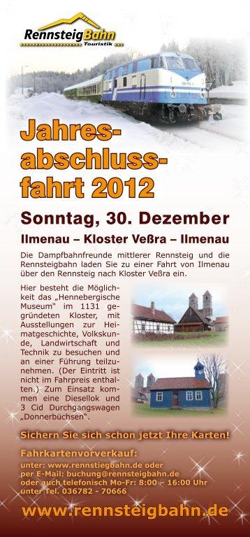 Jahres- abschluss- fahrt 2012