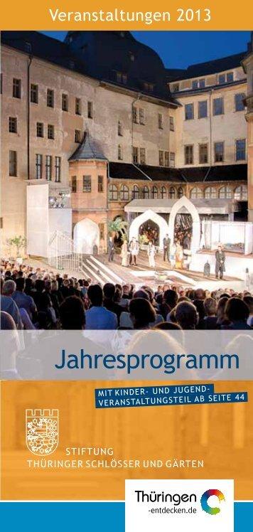 Jahresprogramm - Stiftung Thüringer Schlösser und Gärten