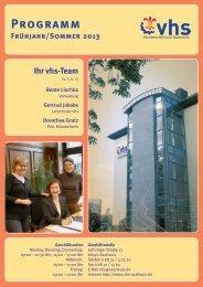 Aktuelle Kurs-PDF - Volkshochschule Saarlouis