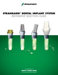 STRAUMANN® DENTAL IMPLANT SYSTEM RESToRATIVE ...