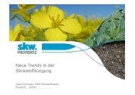 Neue Trends in der Stickstoffdüngung Bodo Maack, SKW - Amazone