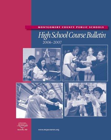 High School Course Bulletin - Montgomery County Public Schools