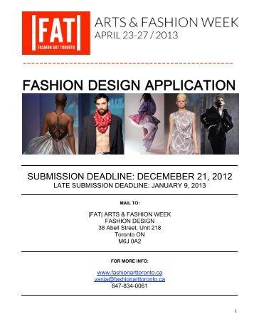 FASHION DESIGN APP-2013 - Arts & Fashion Week