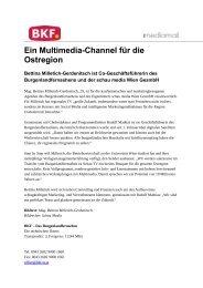 Ein Multimedia-Channel für die Ostregion - Schau Media