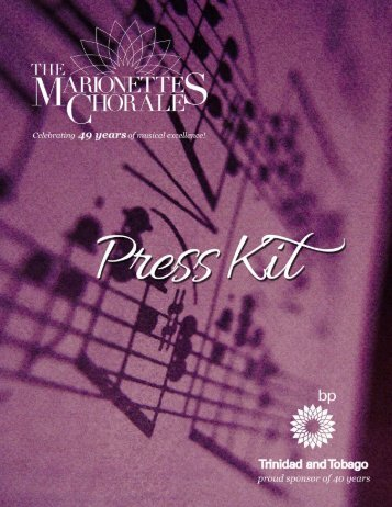 Press Kit - The Marionettes Chorale
