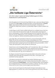 """""""Die heißeste Liga Österreichs"""" - Schau Media"""