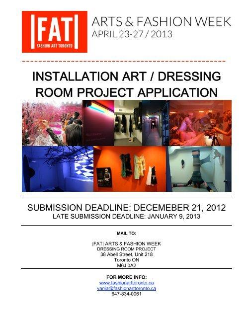 Installation Application 13 Arts Fashion Week