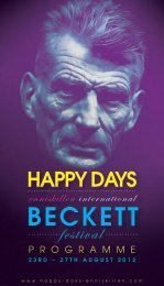 the Enniskillen International Beckett Festival - Happy Days