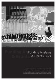 Funding Analysis & Grants Lists - Australia Council for the Arts