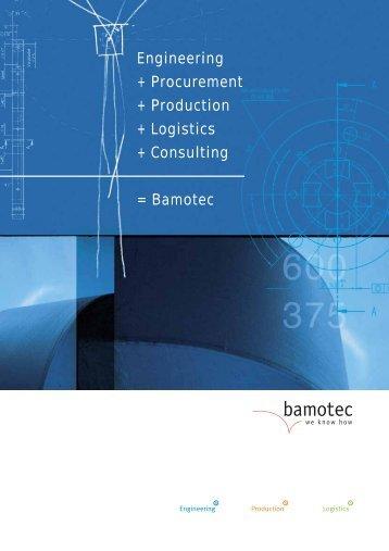 Company brochure (PDF) - Bamotec AG