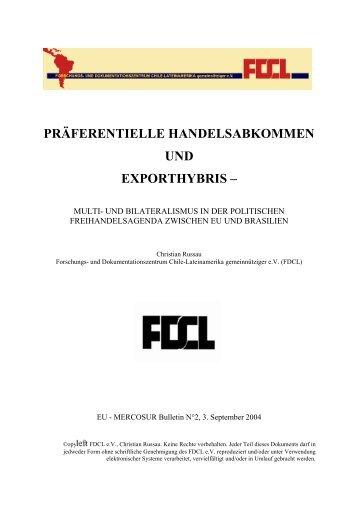 präferentielle handelsabkommen und exporthybris - FDCL