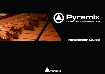 Pyramix 7.0 Installation Guide - Merging Technologies