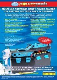 Multi-use Portable, Handy Power Source 12v Battery - Ark Corporation
