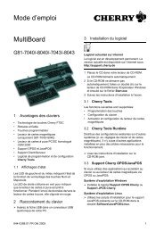 MultiBoard Mode d'emploi - Cherry