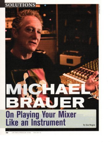 Brauer: Playing your Mixer Like an Instrument - David Hastings ...