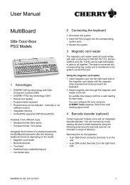 MultiBoard User Manual - Cherry