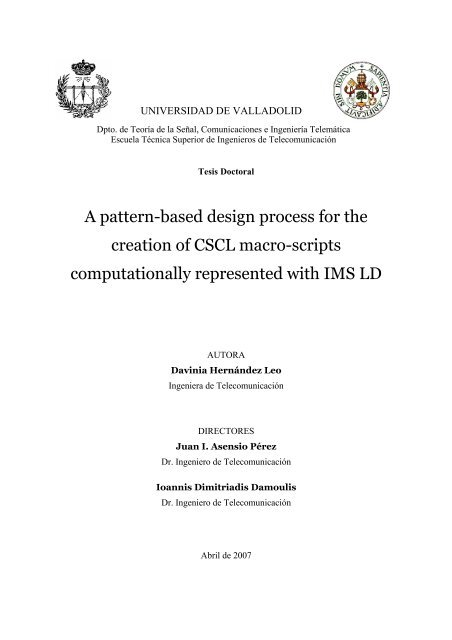 A pattern-based design process for the creation - Departament de ...