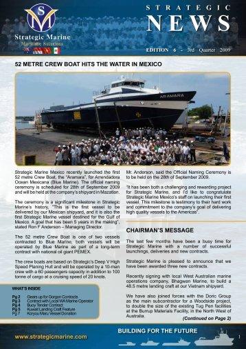 3rd Quarter 2009 - Newsletter Edition 6 - Strategic Marine