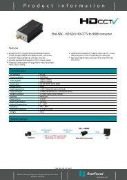 EHA-SRX HD-SDI / HD-CCTV to HDMI converter - Noby AS