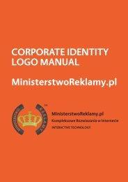 CORPORATE IDENTITY LOGO MANUAL ... - img4.oferia.pl