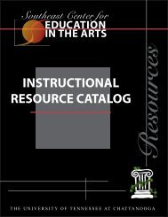 SCEA Instructional Resource Catalog - The University of Tennessee ...