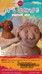 Summer Art Camps 2013 Catalog - Pittsburgh Center for the Arts