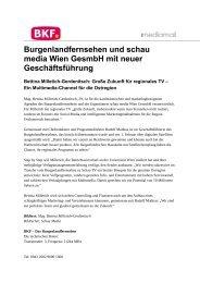Burgenlandfernsehen und schau media Wien GesmbH mit neuer ...