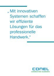 Mit innovativen Systemen schaffen wir effiziente Lösungen - CONEL