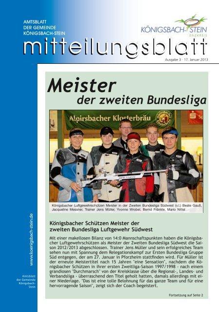 Amtsblatt Ausgabe 03/2013 - Gemeinde Königsbach-Stein