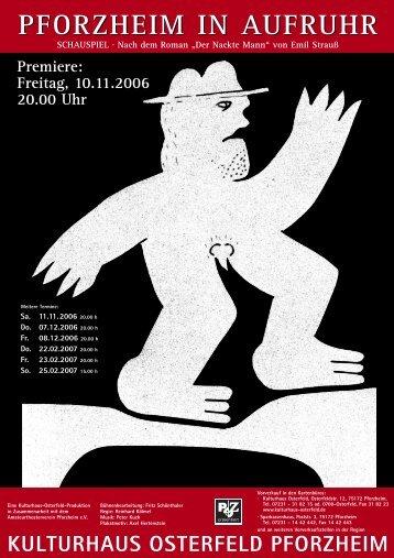PFORZHEIM IN AUFRUHR - Kulturhaus Osterfeld