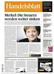 Merkel: Die Steuern werden weiter sinken - fapipa