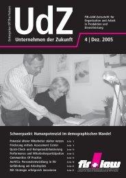 Unternehmen der Zukunft 4 | Dez. 2005 - FIR