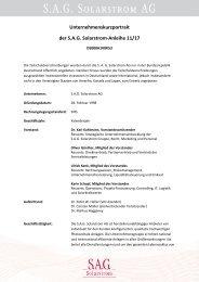 Unternehmenskurzportrait der S.A.G. Solarstrom ... - Börse Frankfurt