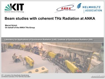 Beam studies with coherent THz Radiation at ANKA - ISA
