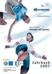 BfO Jahrbuch 2007 - Bundesfachschule für Orthopädie-Schuhtechnik