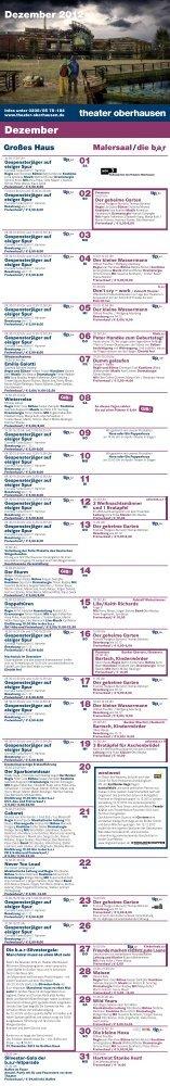 Dezember - beim Theater Oberhausen