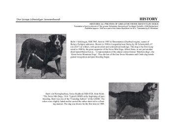Historical photos.pub - Greater Swiss Mountain Dog Club of America