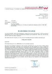CGEMEÜNDEAMT SILZ - Gemeinde Silz