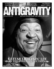 February 2009 (PDF) - Antigravity Magazine